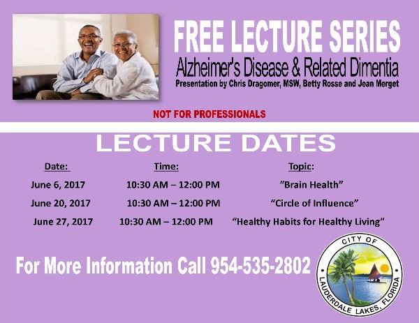 Alzheimers Lectures II 2017
