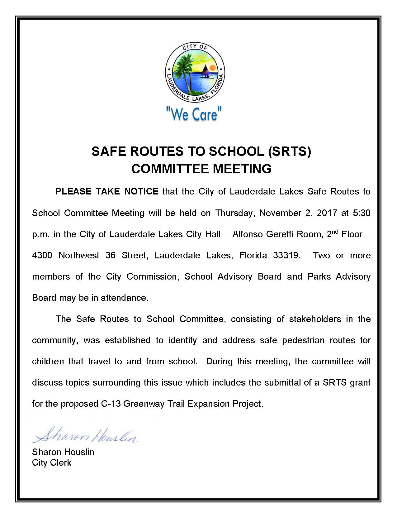 Public Notice - Safe Routes to School (002)