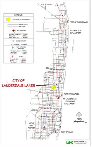Map of City of Lauderdale Lakes