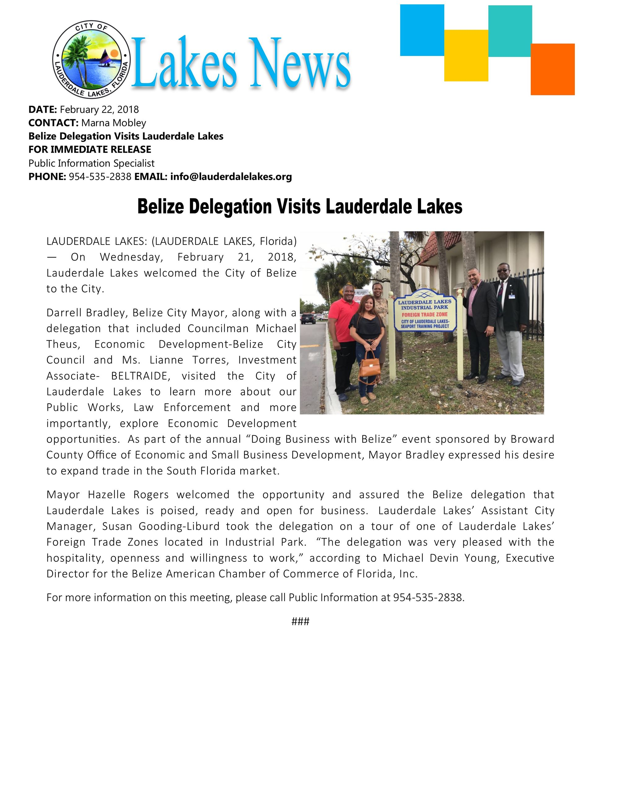 press.belize visit 2018