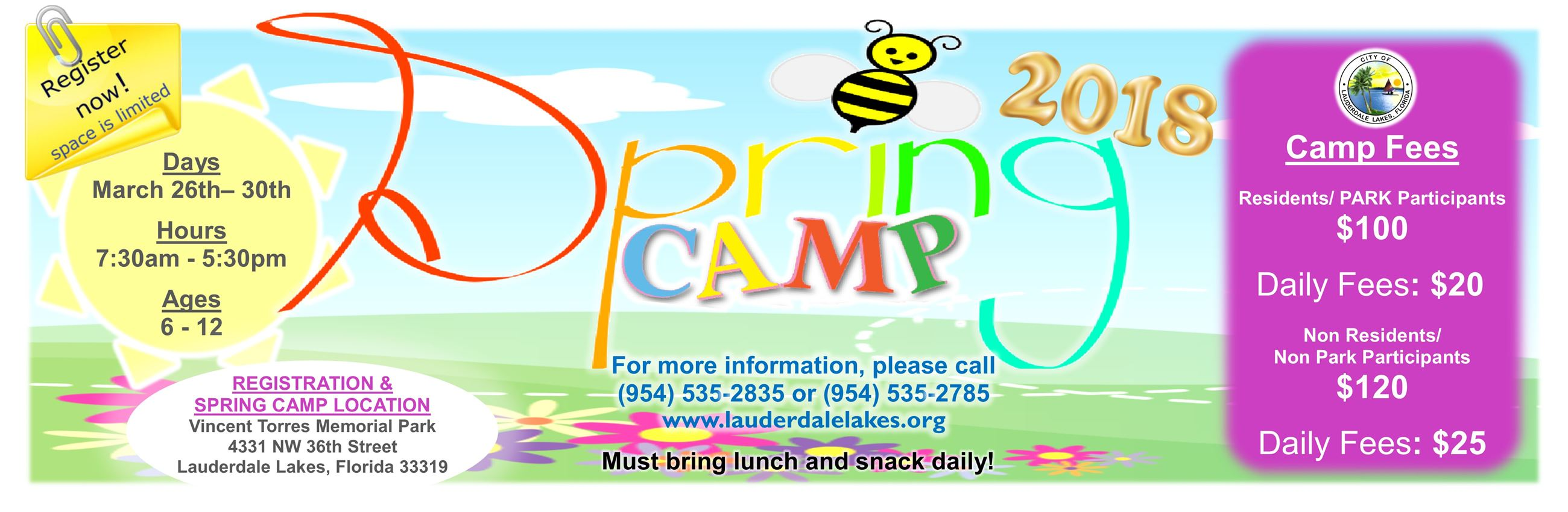 2018 Spring Camp Website Banner