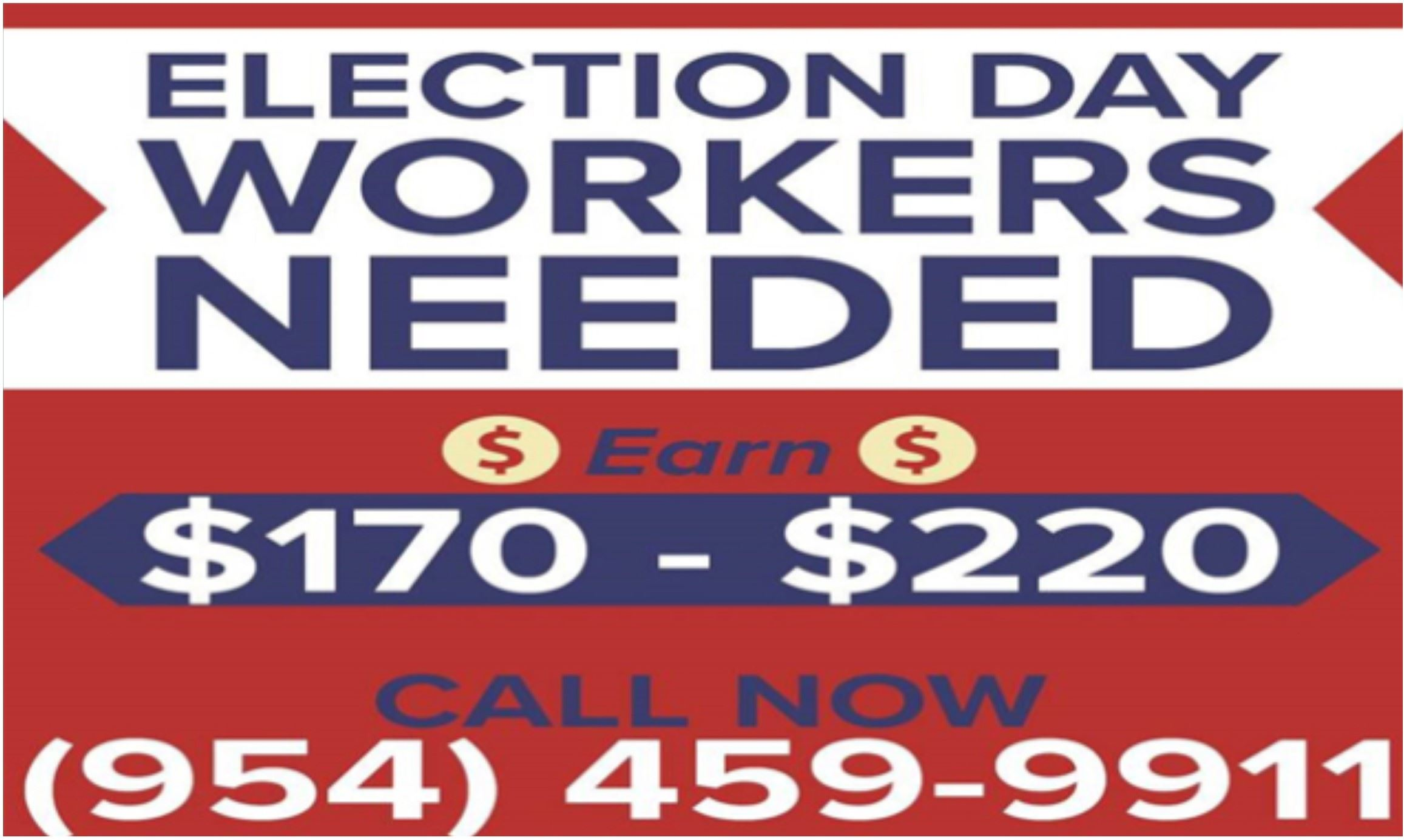 Election worker Banner