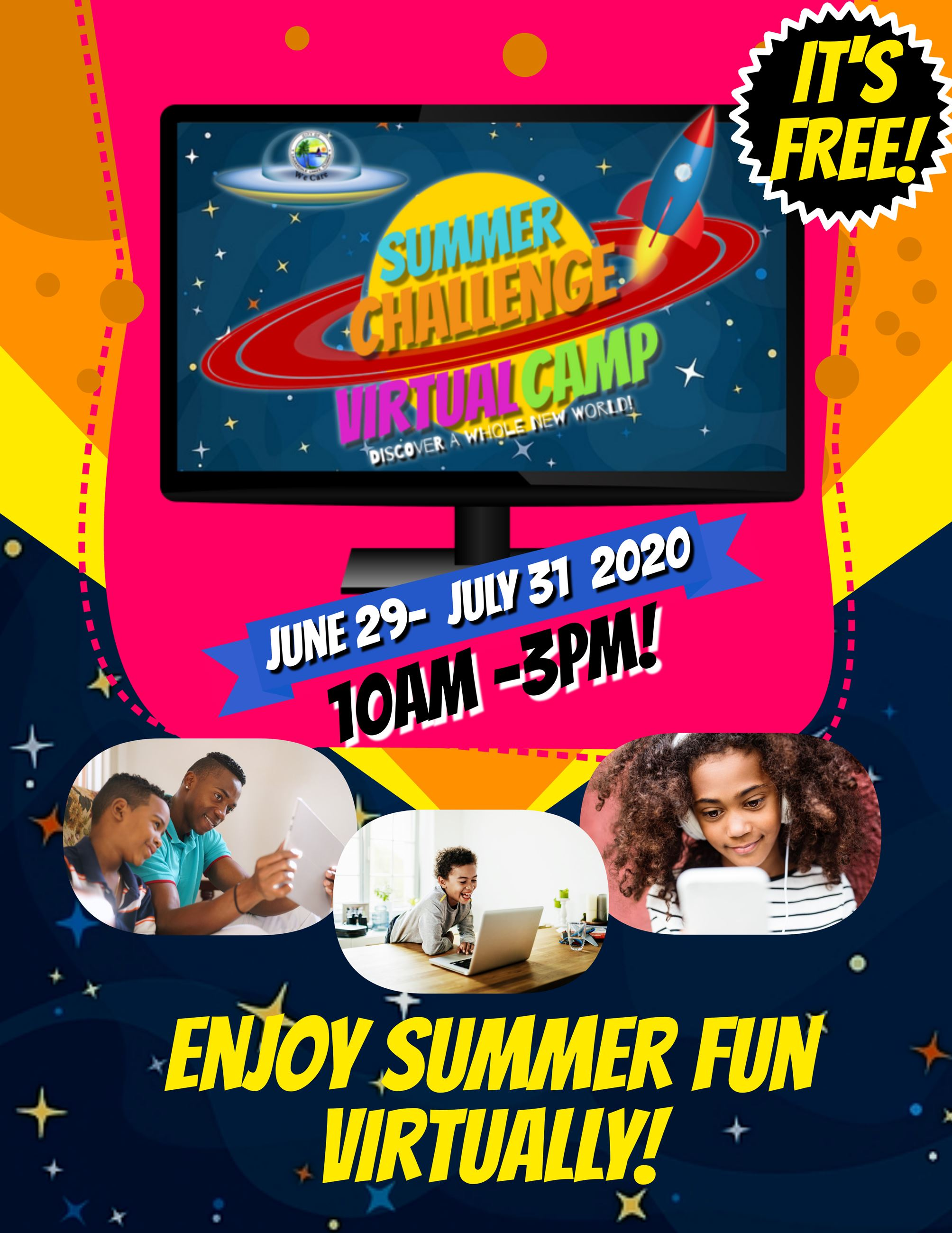 Lauderdale Lakes Virtual Summer Camp Flyer