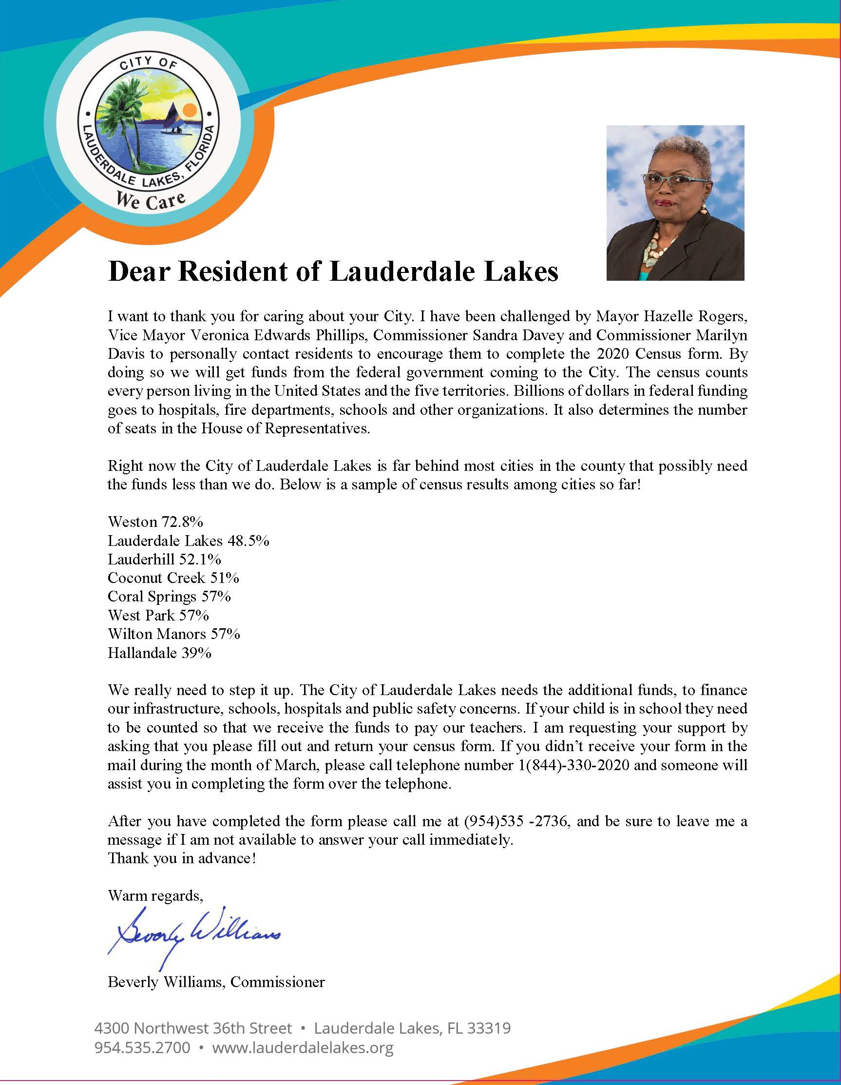 To Lauderdale Lakes Residents BW