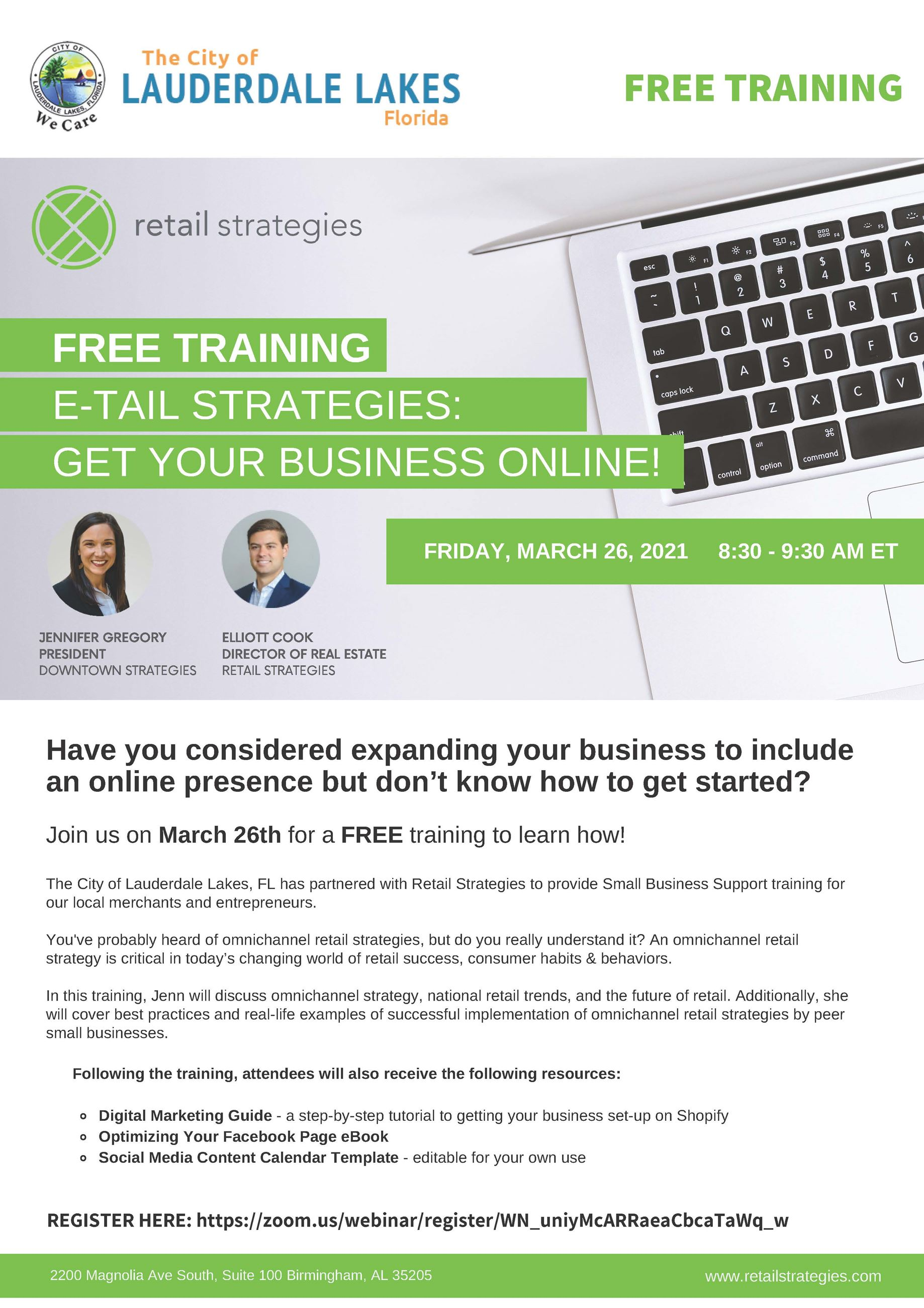 LLakes FL - Get Your Business Online  (March 26th)