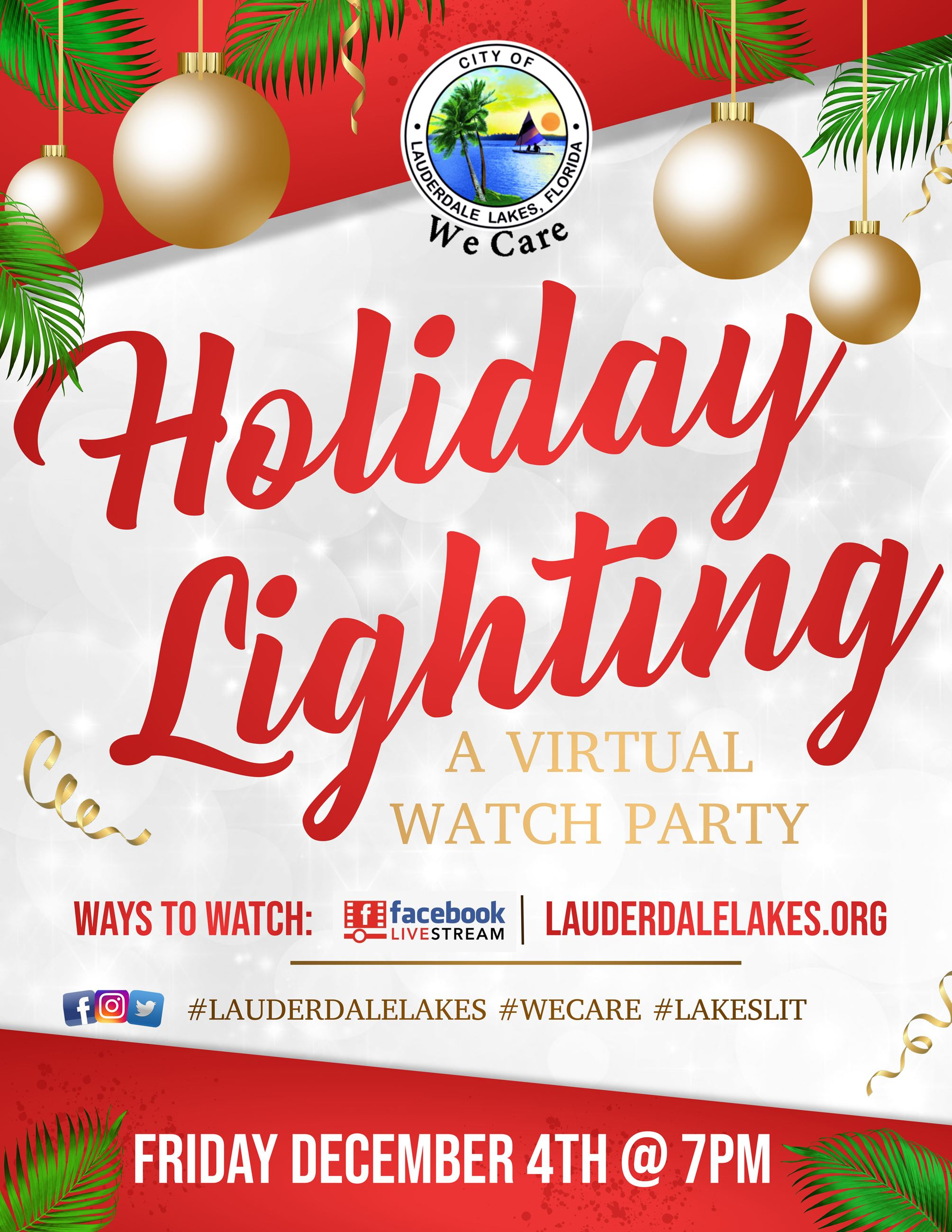 Virtual Hoilday Lighting Flyer 2020